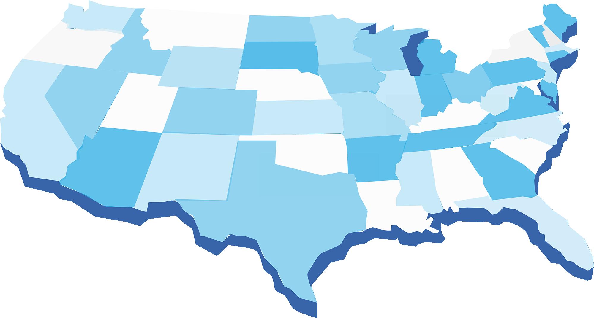 abstract USA map